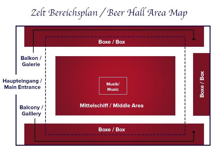 Zeltbereichsplan Festhalle Pschorr-Bräurosl