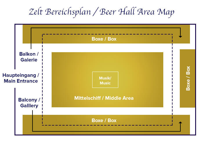 Zeltbereichsplan Hofbräu-Festzelt