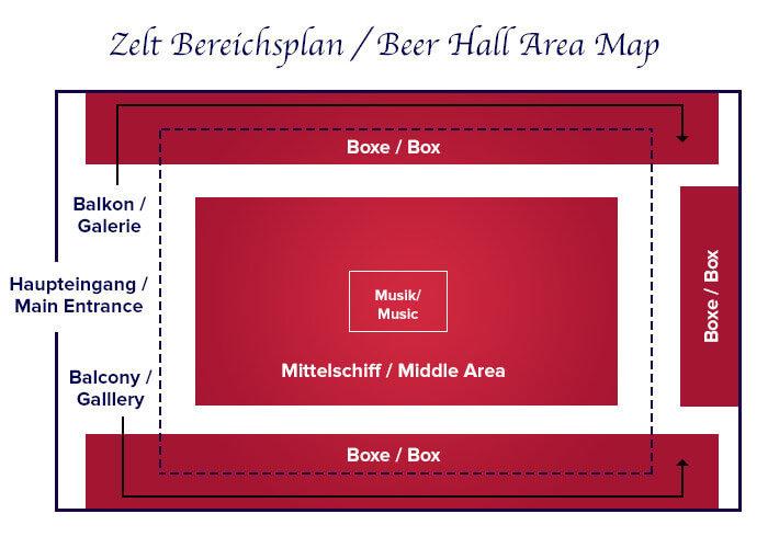 Zeltbereichsplan Käfers Wiesn-Schänke