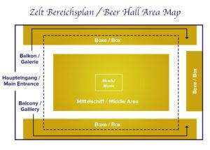 Zeltbereichsplan Löwenbräu-Festzelt