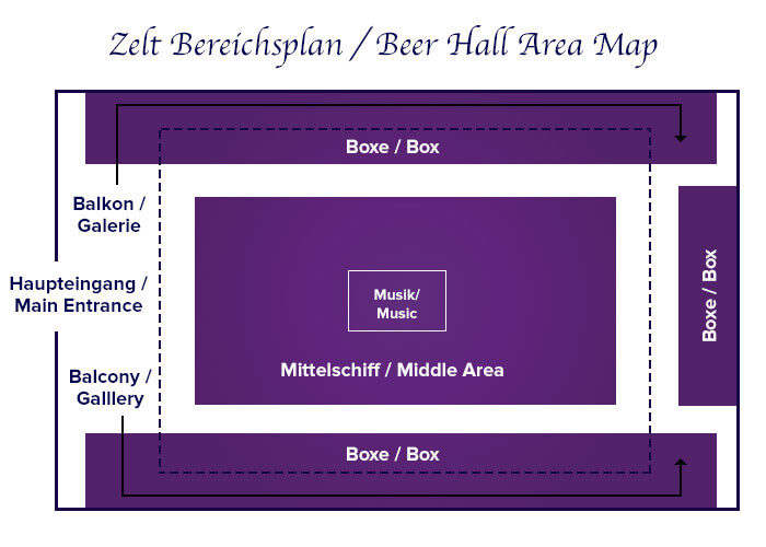 Zeltbereichsplan Marstall Festzelt