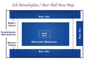 Zeltbereichsplan Paulaner-Festzelt
