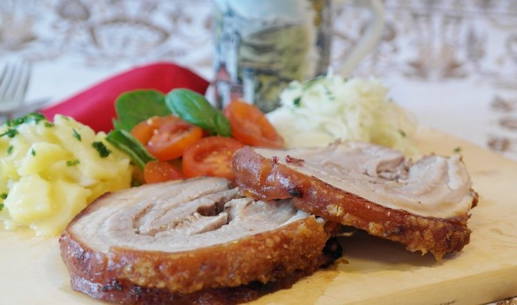 traditional Bavarian Pork roast, Oktoberfest Munich