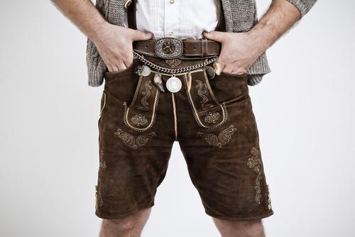 Eine echte bayerische Lederhose